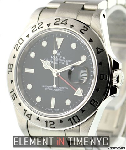 Rolex Explorer II GMT Black Dial 16570