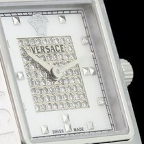 Versace Rêve Carré Perlmutt-Zifferblatt mit Diamantbesatz