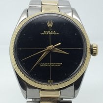 Rolex OYSTER PERPETUAL 34 MM AUTO STEEL/GOLD VERY RARE DIAL