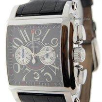 Franck Muller Cortez Conquistador Chronograph Steel Mens Watch...