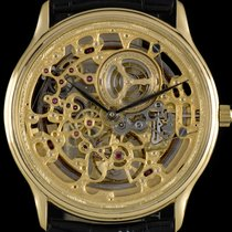 Audemars Piguet 18k Yellow Gold Skeleton Dial Gents Wristwatch