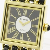 Chanel Polished Chanel Mademoiselle Mop Dial 18k Gold Ladies...