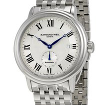 Raymond Weil Maestro Automatic Steel Mens Watch Date Silver...