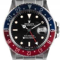 Rolex GMT Master Open 6/9 Rot Blau Pepsi Stahl Automatik...