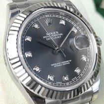 Rolex Datejust Ii 116334 Mens Steel & White Gold Rhodium...