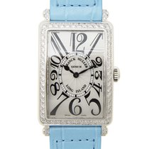 Franck Muller New  Long Island Stainless Steel With Diamonds...