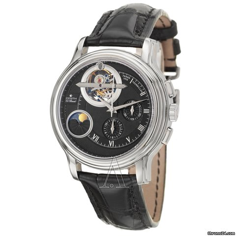 Zenith Men's ChronoMaster Tourbillon Moonphase Day & Night Watch