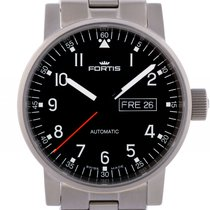 Fortis Spacematic Pilot Professional Day Date Stahl Automatik...