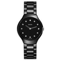 Rado R27742732 Ladies True Thinline Black Ceramic Watch