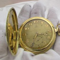 Omega vintage rare 14ct golden thin pocket watch