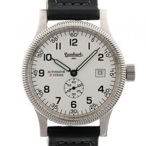 Hanhart Minos Stahl Automatik Armband Leder 40mm Ref.751.0001-00