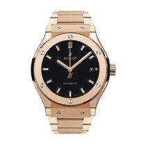 Hublot Classic Fusion 45mm Automatic 18K King Gold Mens Watch...