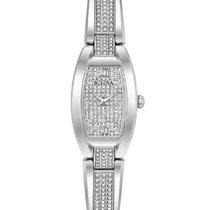 Bulova Womens Crystal Bangle Dress Watch - Stainless Steel -...