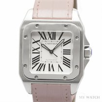 Cartier カルティエ (Cartier) Eightday watch Santos 100 W20126X8 NEW