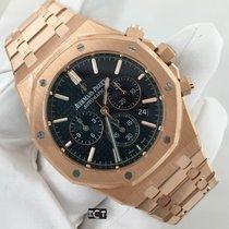 Audemars Piguet Royal Oak Chronograph Rose Gold Black Dial