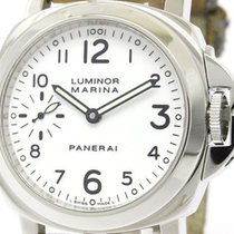 Panerai Polished  Luminor Marina Steel Hand-winding Watch...