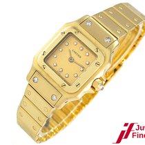 "Cartier ""SANTOS"" 750/18K Gelbgold/Diamanten - Automati..."