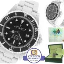Rolex Sea-Dweller 16600 T Z Stainless 40mm Black Date Dive Watch