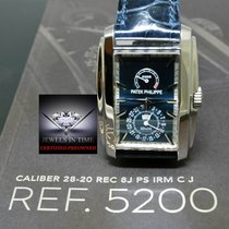 Patek Philippe 5200 Gondolo 8 Day 18k White Gold Blue Box/Pape...