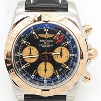 Breitling Cb0420 Chronomat 44 Gmt Steel & 18k Rose Gold ...