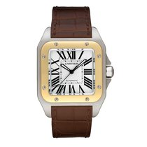 Cartier Santos 100 Automatic Mens Watch Ref W20072X7
