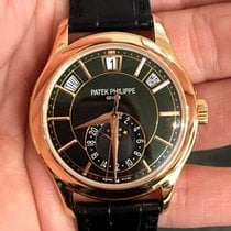 Patek Philippe Annual Calendar 5205R 18K Rose Gold/Black Dial