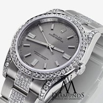 Rolex Oyster Perpetual 36mm Steel Index Diamond Watch 116000
