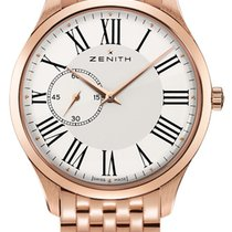 Zenith Heritage Ultra Thin White Dial 18k Rose Gold Men's...