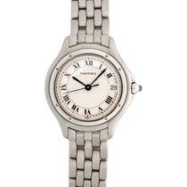 Cartier Stainless Steel Cougar Quartz Ladies Watch – W35001F5