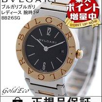 Bulgari  【ブルガリ】ブルガリブルガリ レディース 腕時計 BB26SGクォーツ SS×YG コンビ ブラック文字盤...