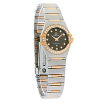 Omega Constellation Diamond Mini Ladies 18K Rose Gold Watch...