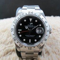 Rolex EXPLORER 2 16570 Black Dial (No Hole Case)