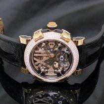Romain Jerome Steampunk Tourbillon with Diamond Bezel - Rose Gold