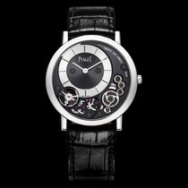 Piaget [NEW] Altiplano Black and Silver Dial White Gold G0A39111