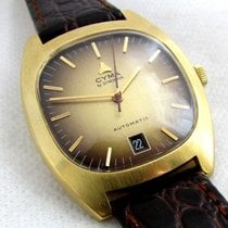 Cyma by synchron, rare 18ct golden serviced automatic