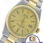 Rolex Oyster Perpetual DateJust 36mm 1601 Two-Tone Yellow Gold