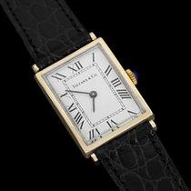 Tiffany 1980's Vintage Mens Dress Watch - 14K Gold