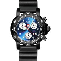 Swiss Military Divers Sw1 Scuba Nero Watch Eta Chrono 1000m/33...