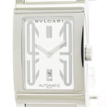 Bulgari Polished  Rettangolo Steel Automatic Mens Watch Rt45s...