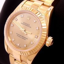 Rolex Ladies President 18k Yellow Gold Fact Diamond Dial...