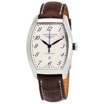 Longines Evidenza Silver Dial Brown Leather Ladies Watch...