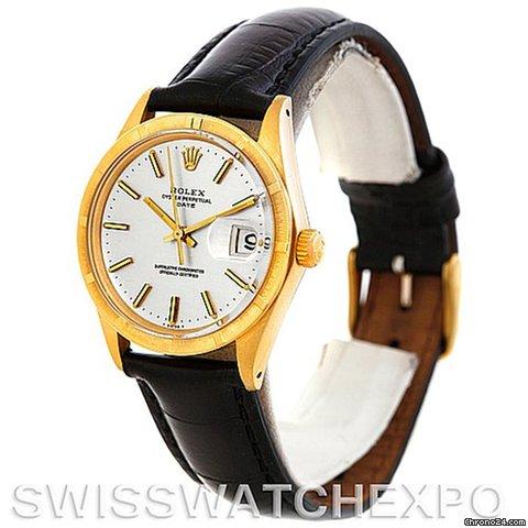 Vintage Rolex Date Mens 14k Yellow Gold Watch 1501