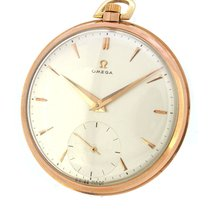 Omega 14K Rose Gold Small Second Pocket Watch