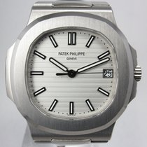 Patek Philippe New  Stainless Steel Jumbo Nautilus White Dial...