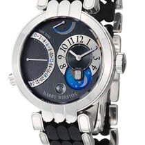 Harry Winston Premier Excenter Time Zone 18K White Gold Unisex...