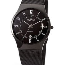 Skagen Mens Watch - Black Titanium case - Black Dial - Mesh...
