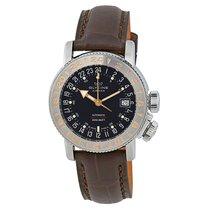 Glycine Airman 18 World Timer Purist Black Dial Men's Watch