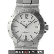 Bulgari Diagono Stainless Steel 36mm White Dial Automatic ...