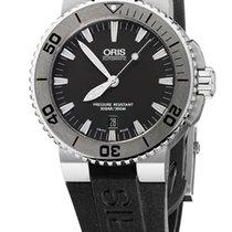 Oris Aquis Date, Grey Dial, Rubber Bracelet