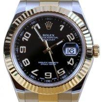Rolex Datejust II 116333 Arabic Black 41mm Yellow Gold